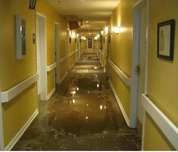 Commercial Water Damage – Bristol Medical Facility Before